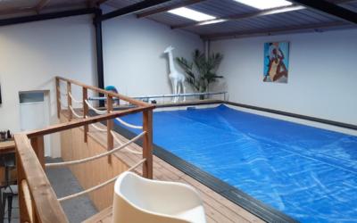 Chantier : intervention sur une piscine intérieure privée (85)